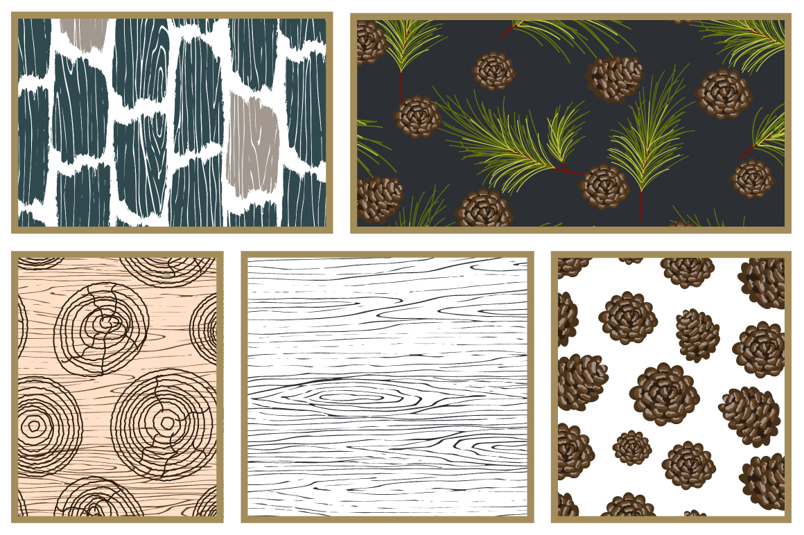 Woods Rhapsody Seamless Patterns example image 5