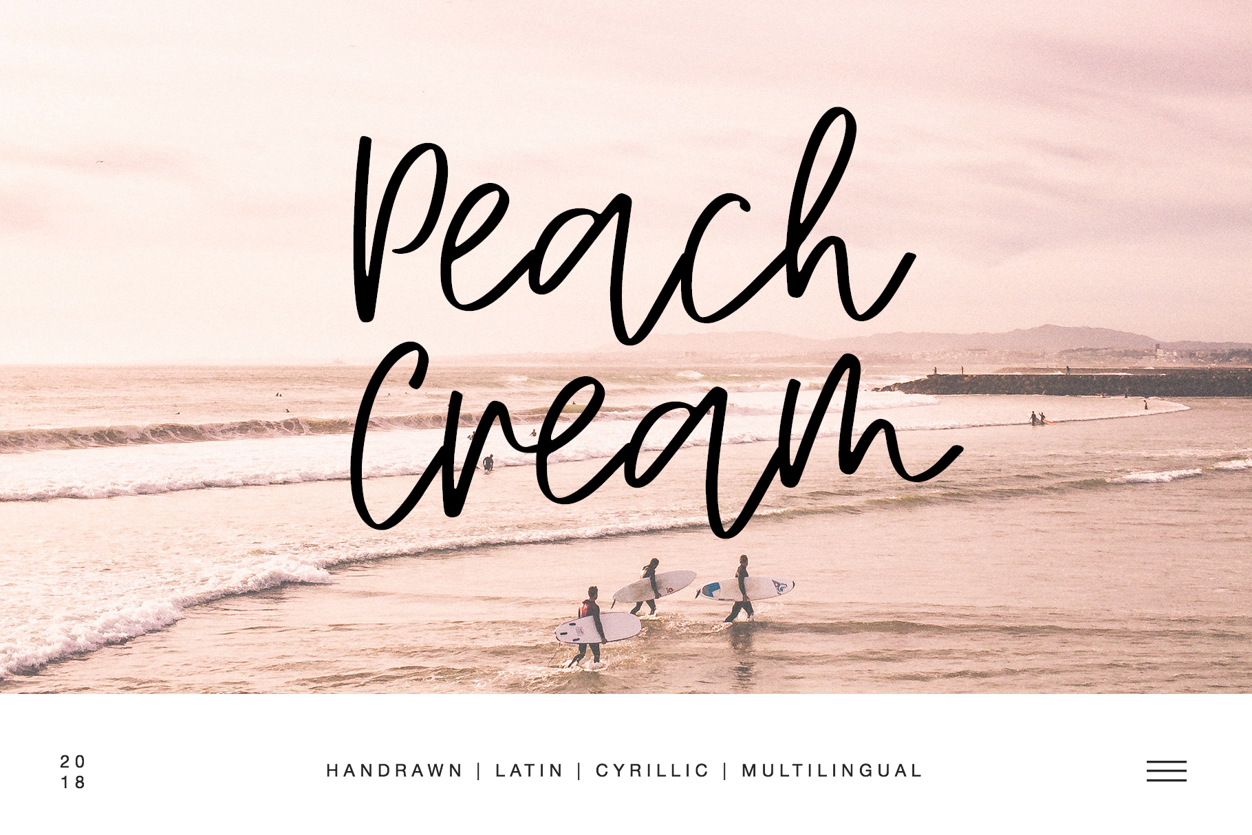 Peach Cream Latin & Cyrillic example image 1