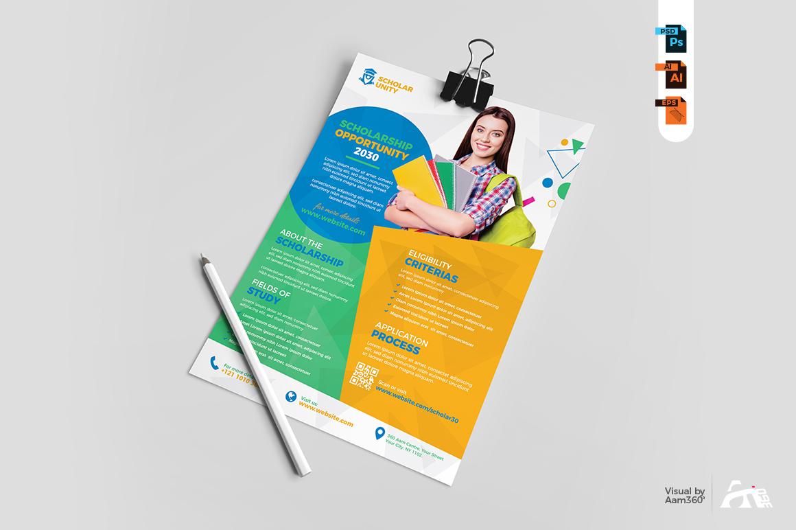 Scholarship Program Flyer Template example image 4