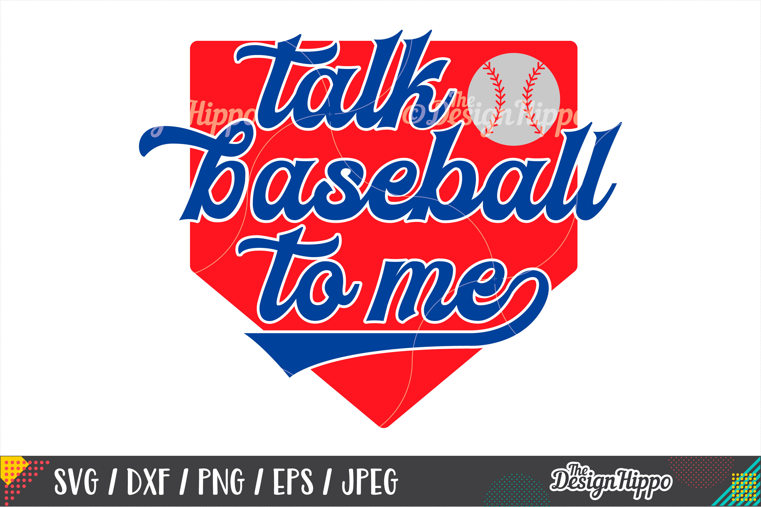 Talk Baseball To Me SVG, Home Plate SVG, DXF PNG Cut Files example image 1