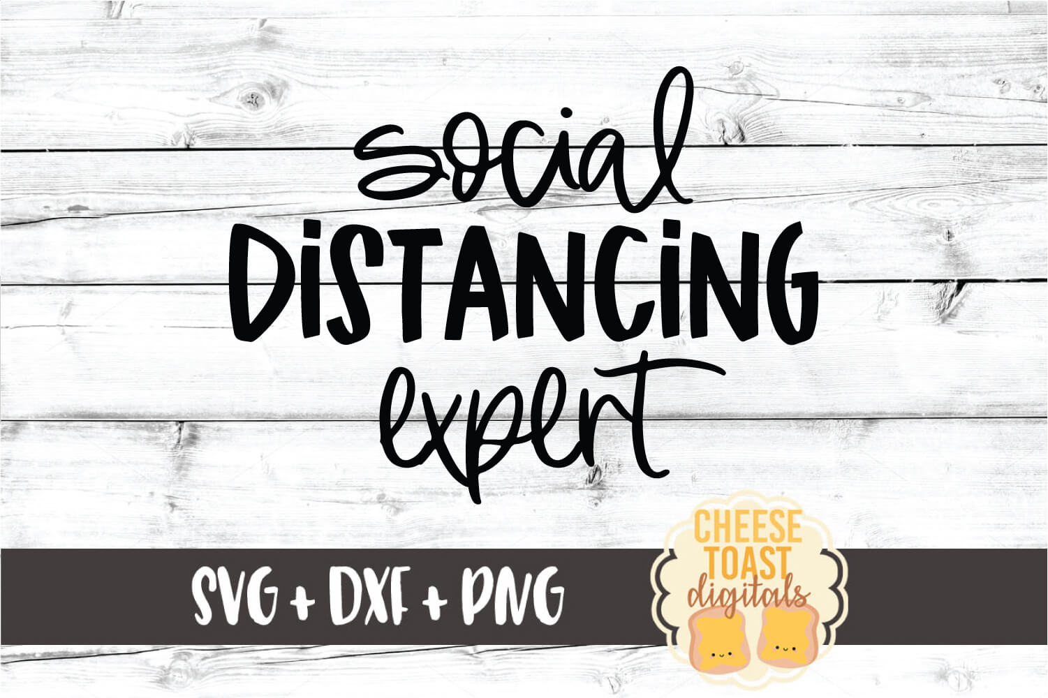 Social Distancing Expert SVG PNG DXF Cut Files example image 2