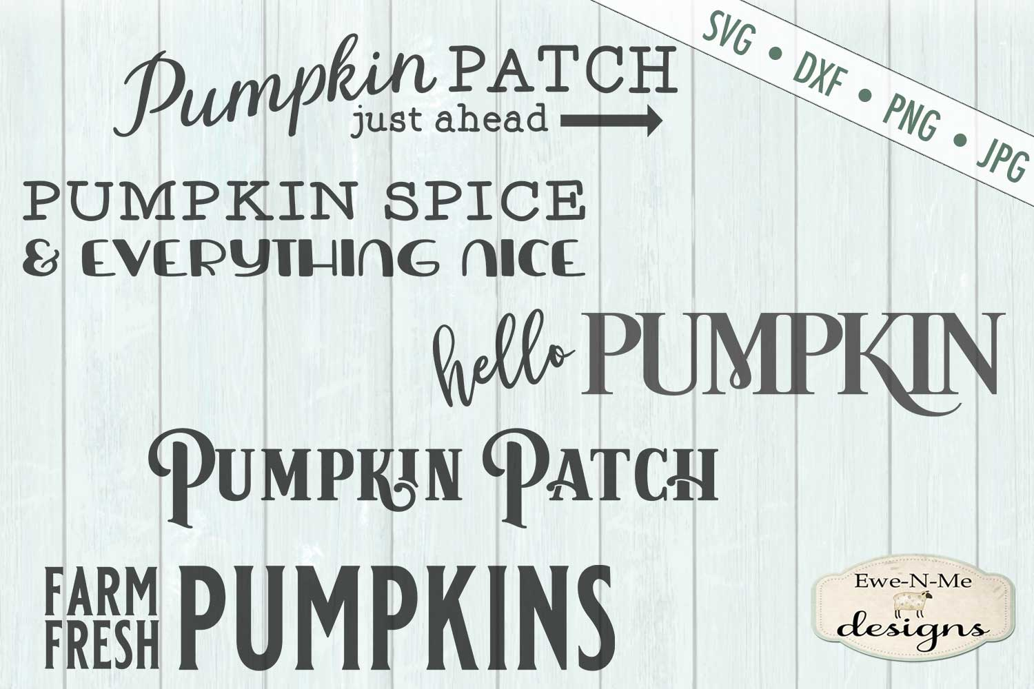 Pumpkin Sign Bundle - Horizontal Pumpkin Patch - SVG example image 2
