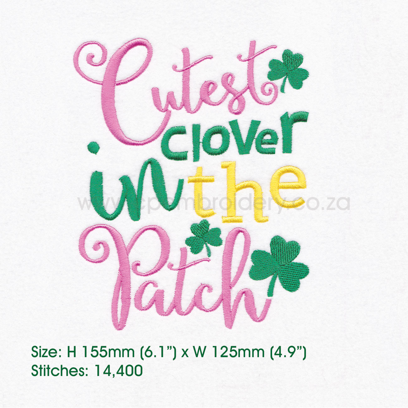Cutest Clover in the Patch St Patrick's Day Design example image 6