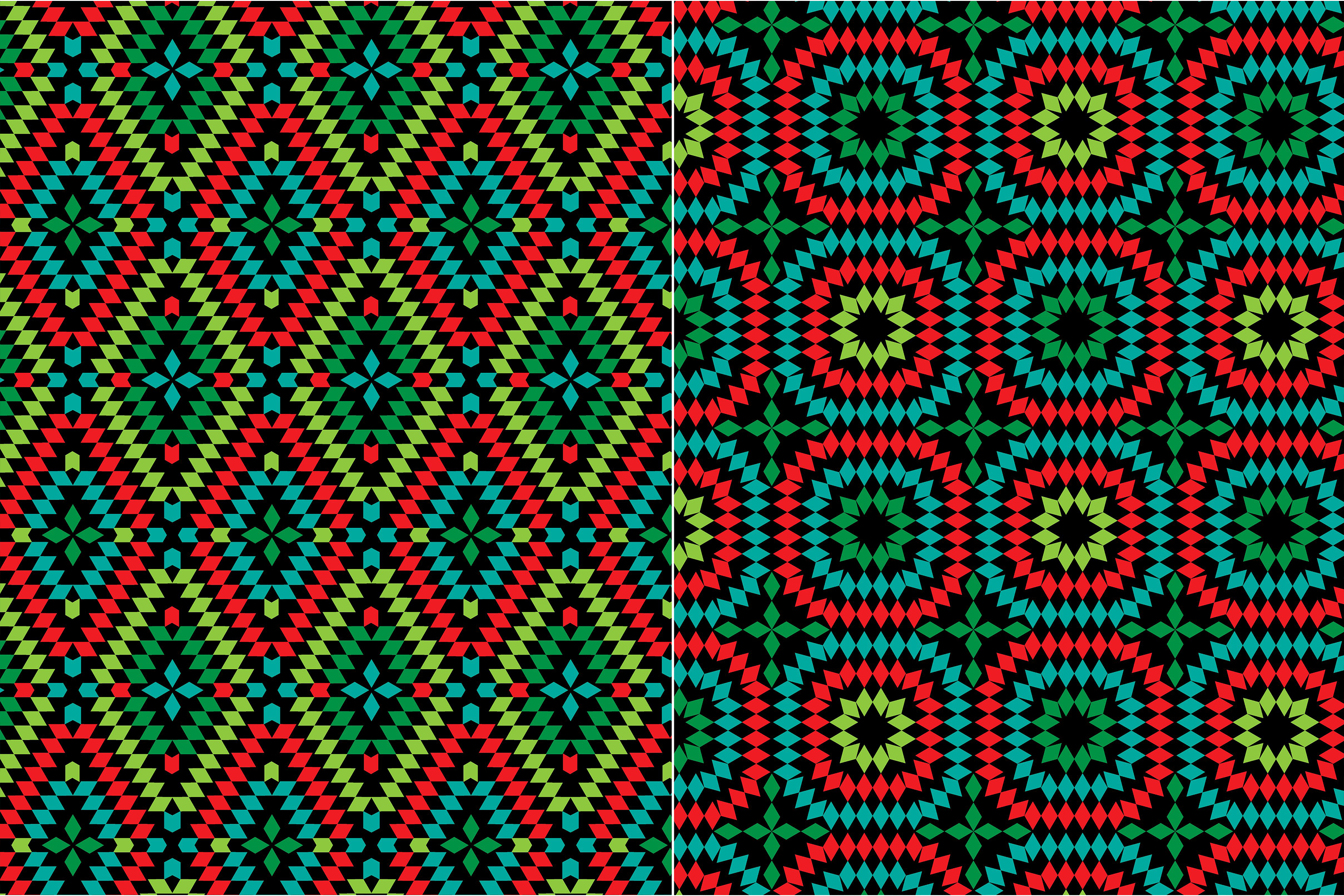 Granny Square Patterns on Black example image 2