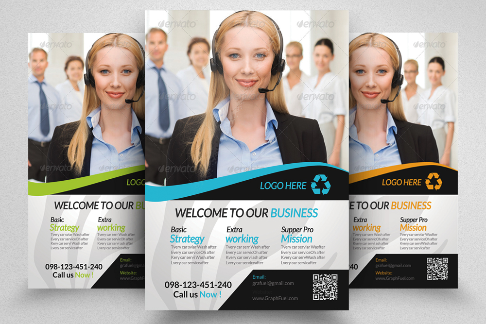 6 Corporate Business Flyers Bundle example image 2