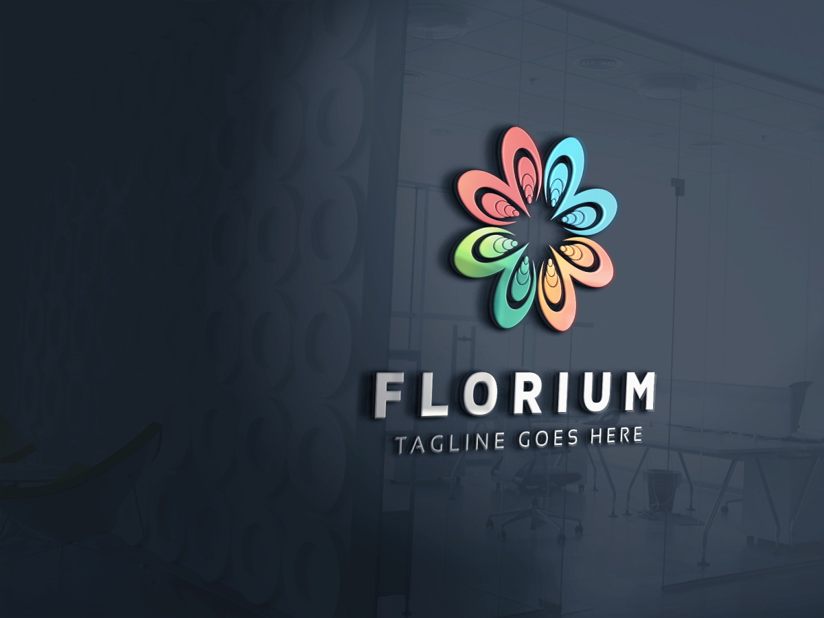 Flower Colorful Logo example image 4