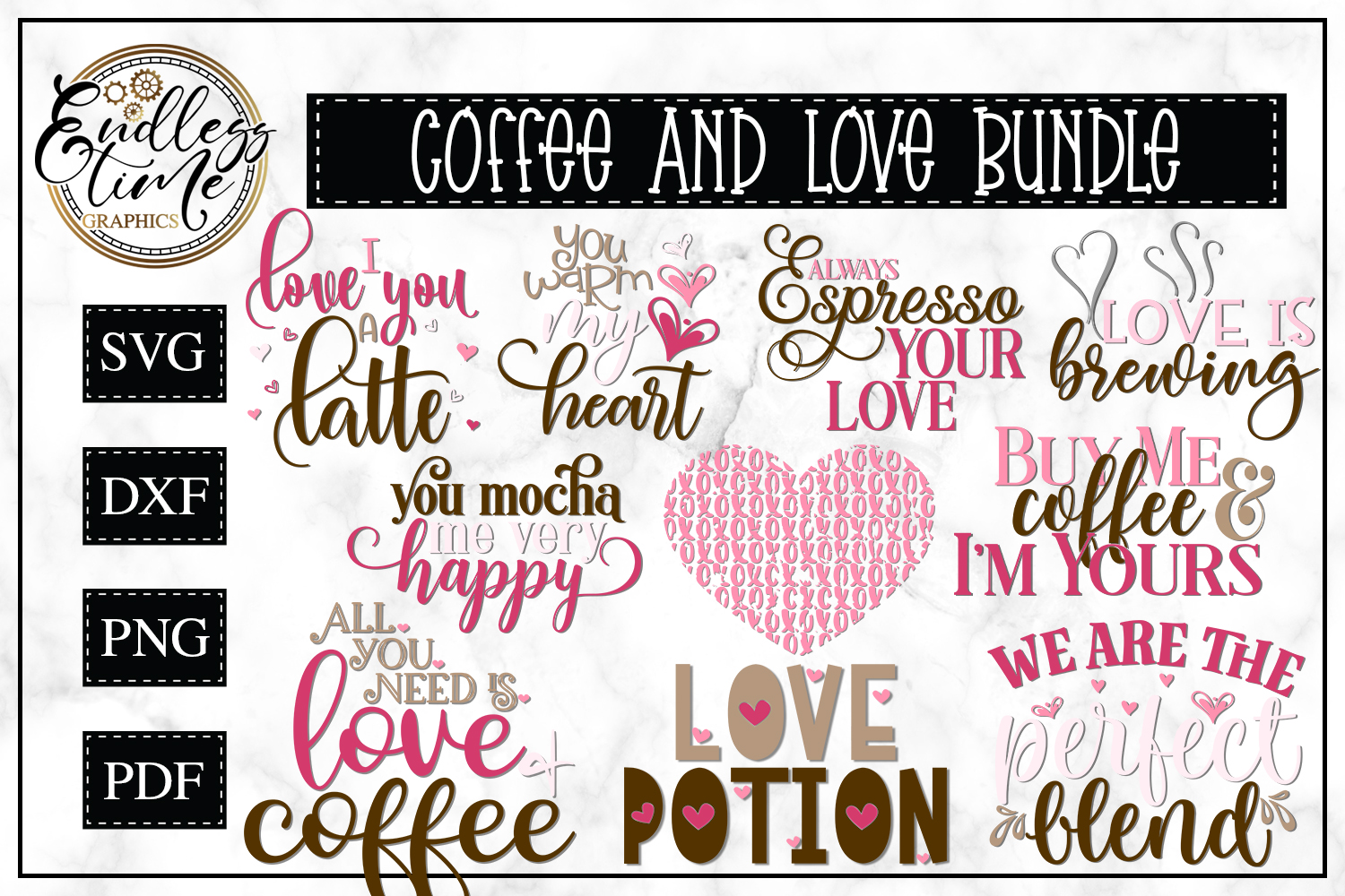 Coffee and Love Bundle - Another Valentine's Bundle example image 1
