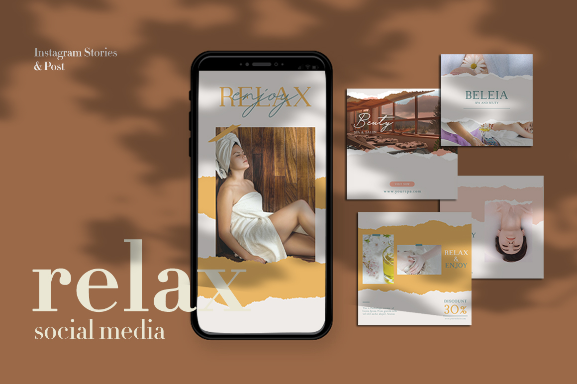 Relax Instagram Templates example image 1
