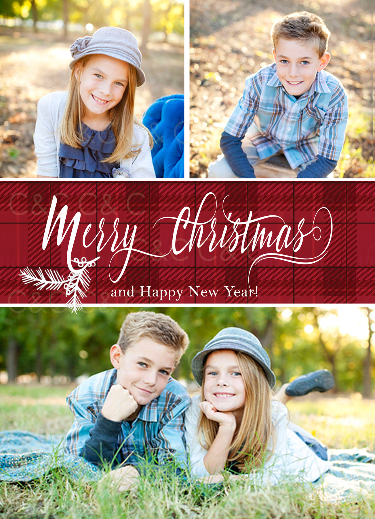 C&C Christmas Photo Card 18-04 example image 3