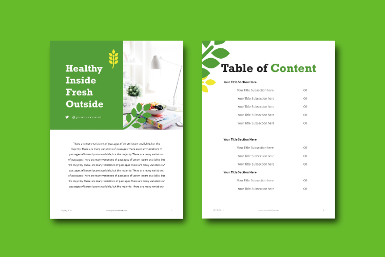 Vegetarian Recipe eBook Template Theme PowerPoint example image 3