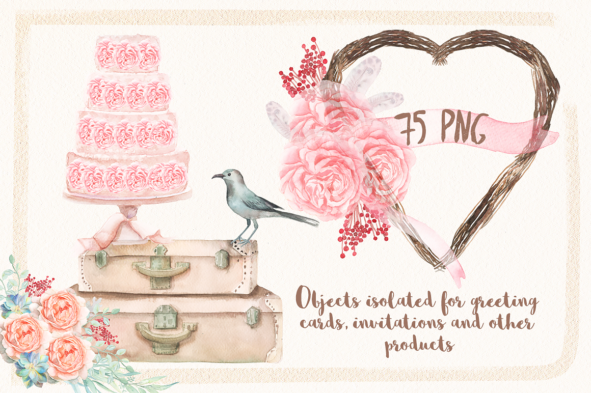 Watercolor Chic of Spring example image 5
