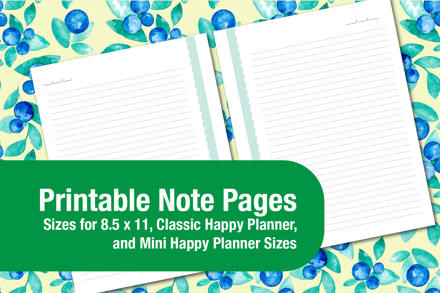 image relating to Printable Note Pages titled Printable Spring Scalloped Protected Notes Web pages