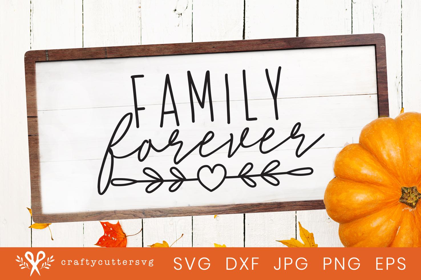 Download Thanksgiving Svg Family Forever Love Heart Clipart