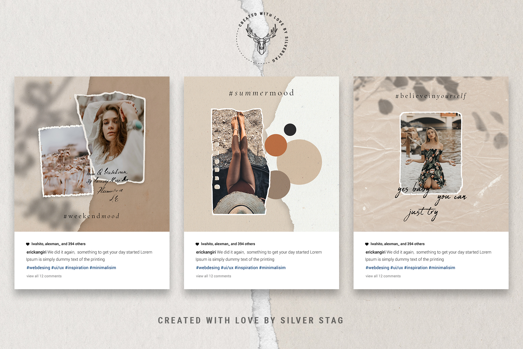 #InstaBabe Instagram Post Templates example image 11