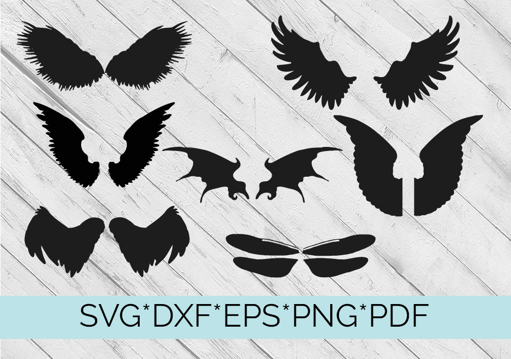 40 Sets of Wings Svg Cutting Files example image 6