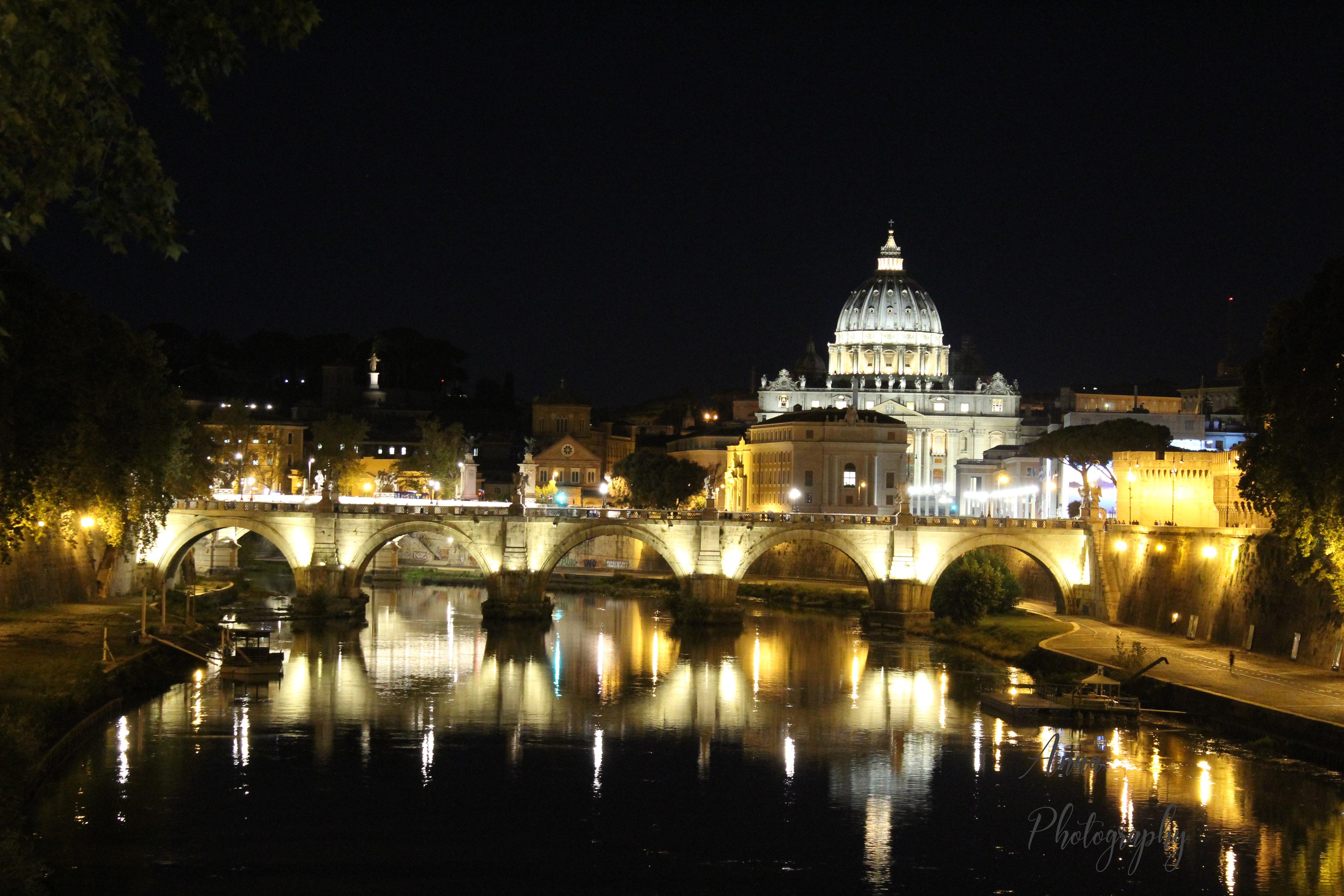 Vatican Bridge at Night example image 1