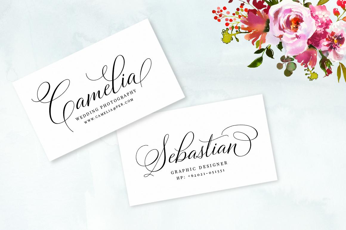 Bettrisia Script - Elegant Calligraphy Font example image 3