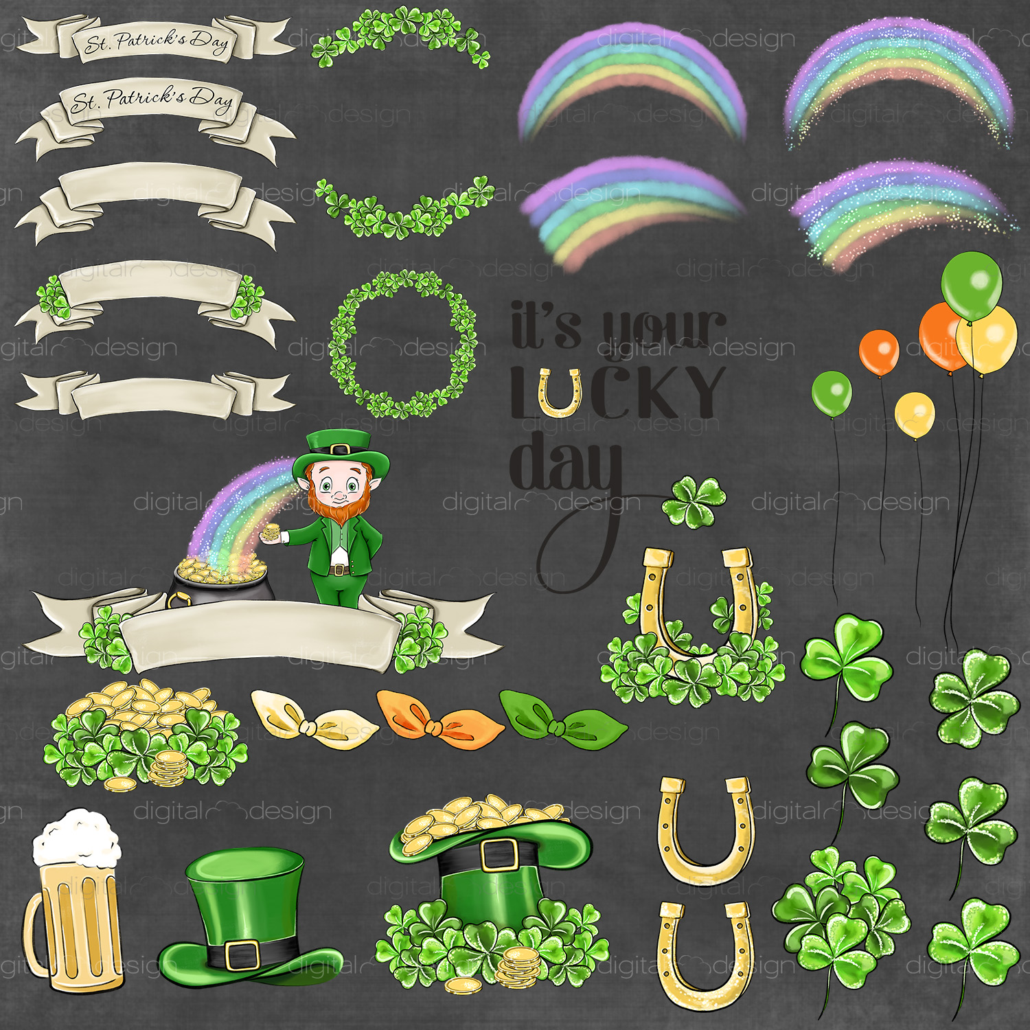 Its Your Lucky Day - Clipart example image 5
