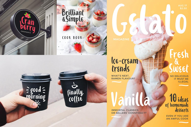 Ice-cream & Berries Font example image 3