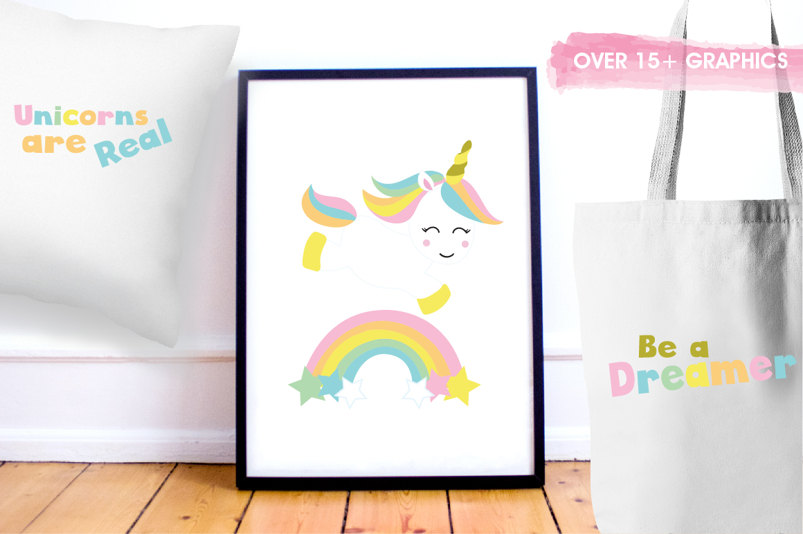 Unicorn Babies graphics and illustrations example image 5