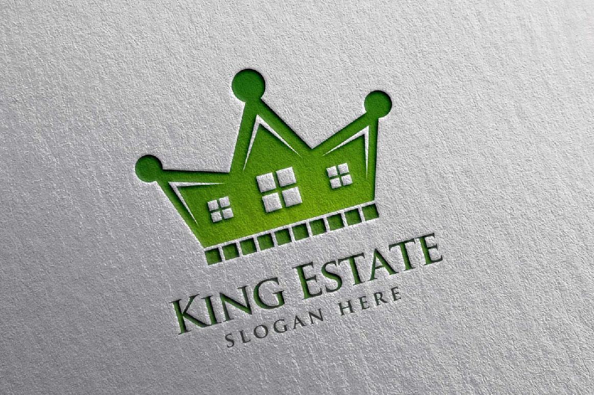 Real Estate Logo, King Estate Logo example image 3