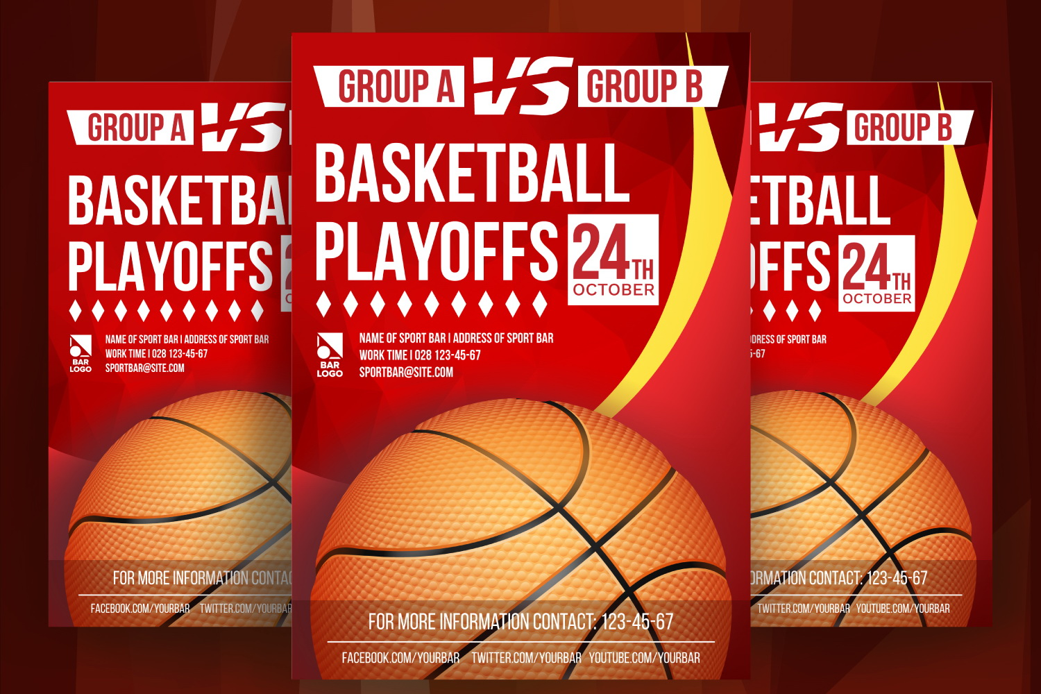 Basketball Poster Vector example image 1