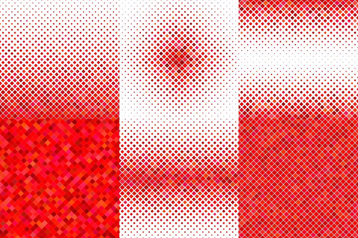 24 Red Square Patterns (AI, EPS, JPG 5000x5000) example image 3