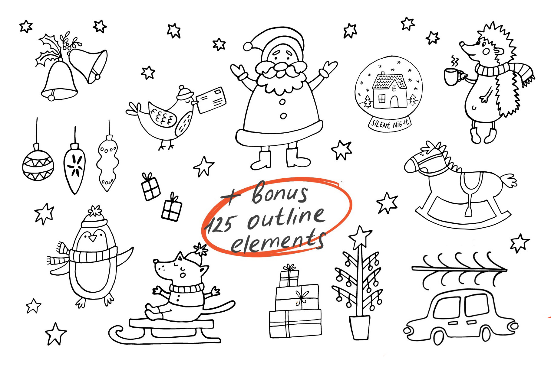 Cozy Christmas Clipart example image 10