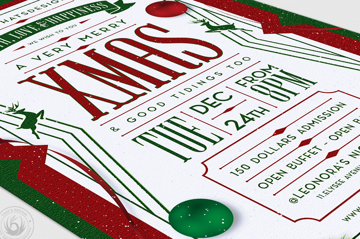 Christmas Eve Flyer Template V8 example image 6