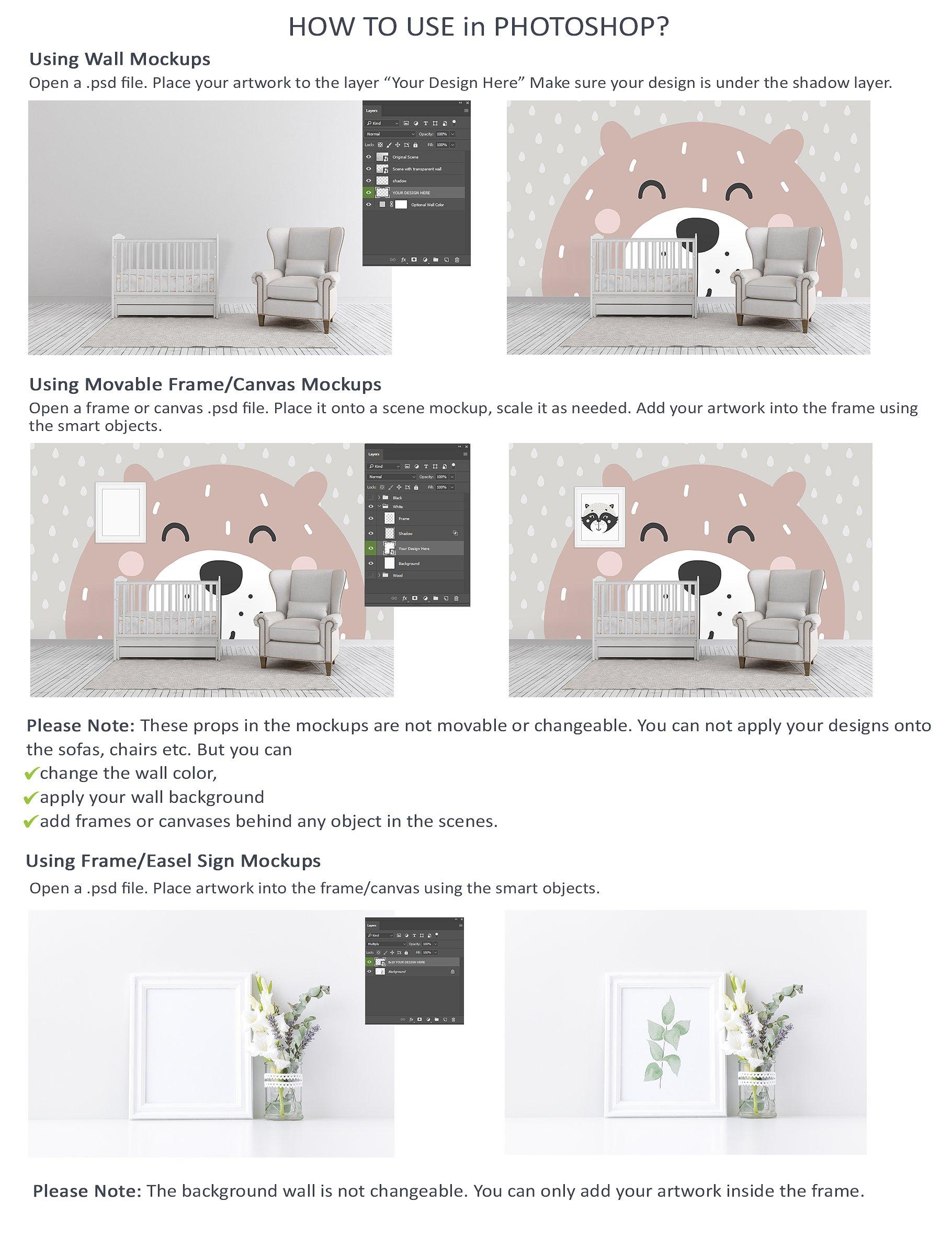 Massive Interior Wall Mockup, Frame Mockup Bundle FREE sampl example image 30