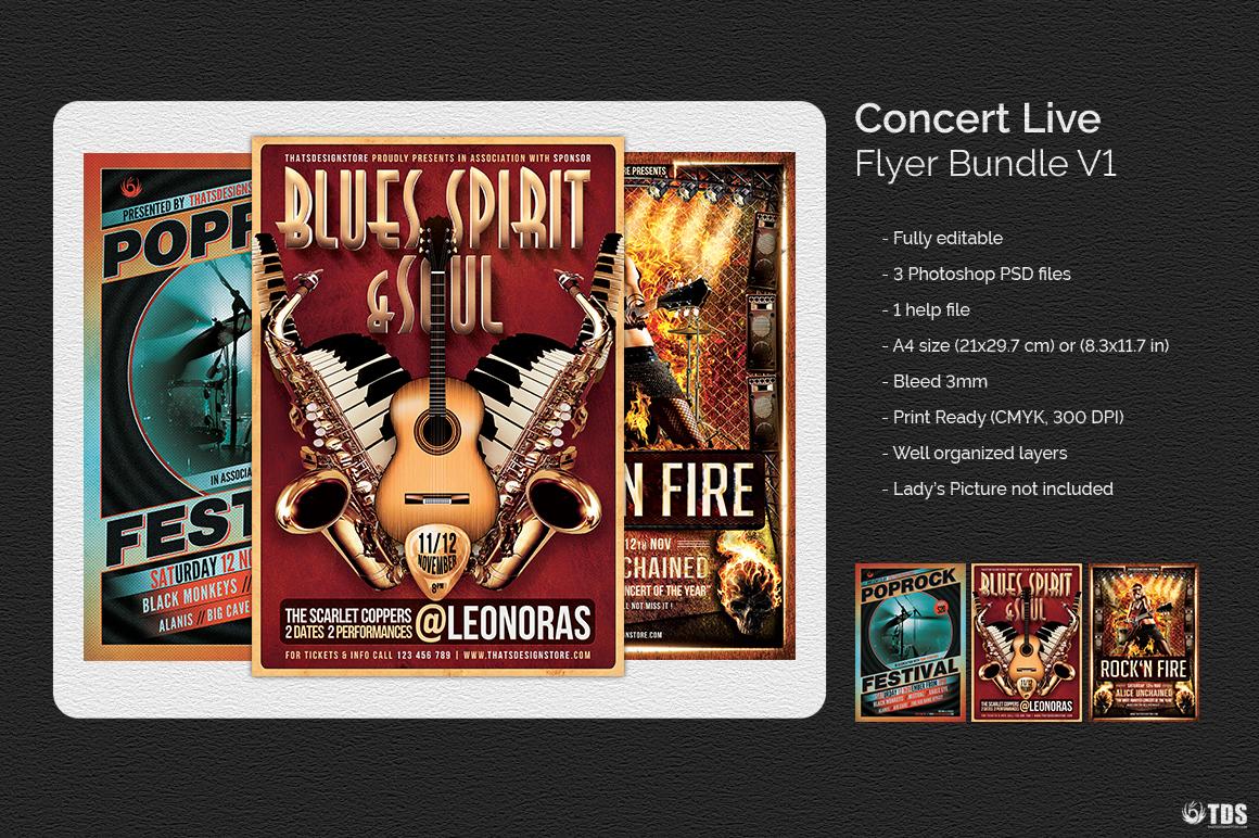 Concert Live Flyer Bundle V1 example image 2