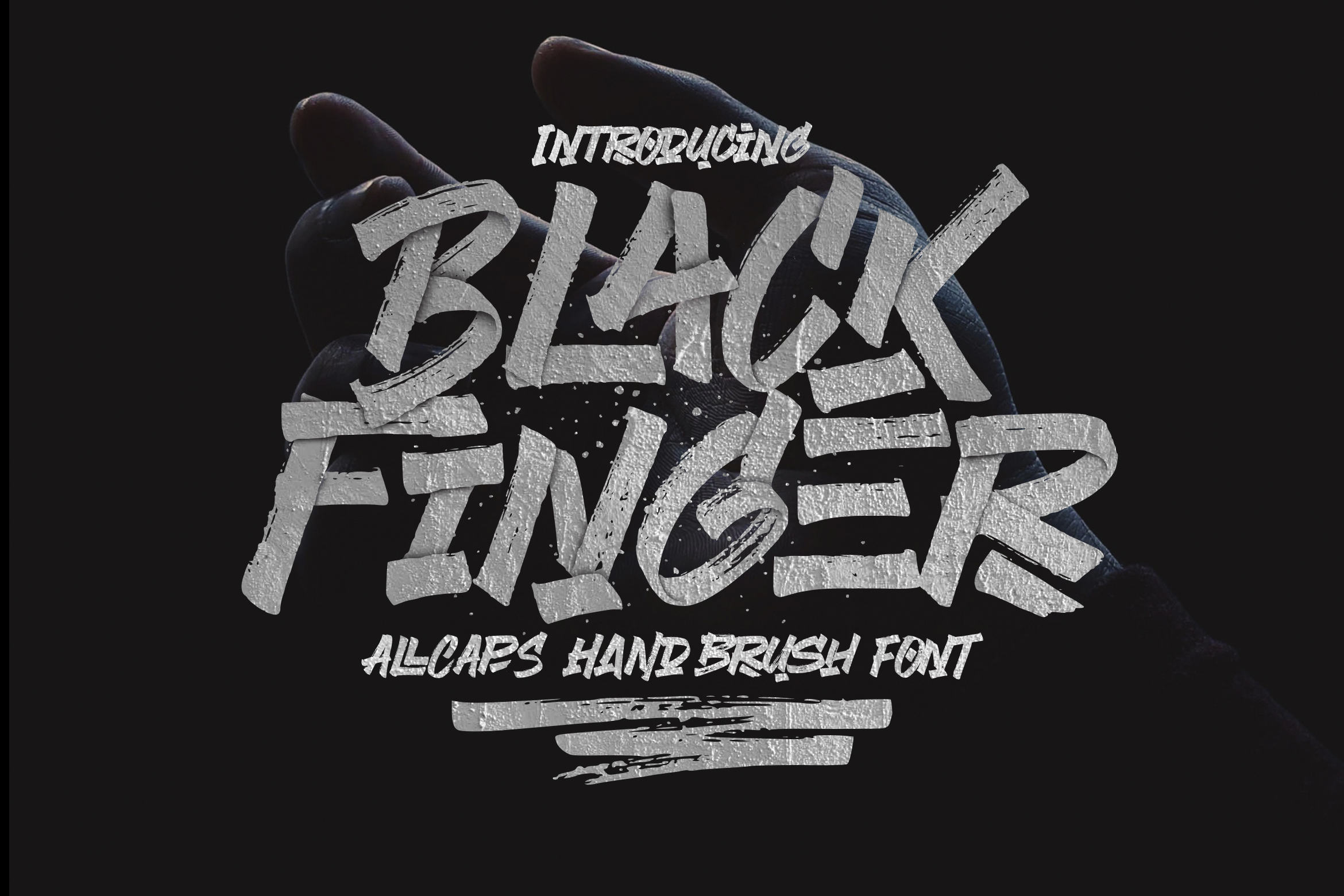 Black Finger Brush Font example image 1