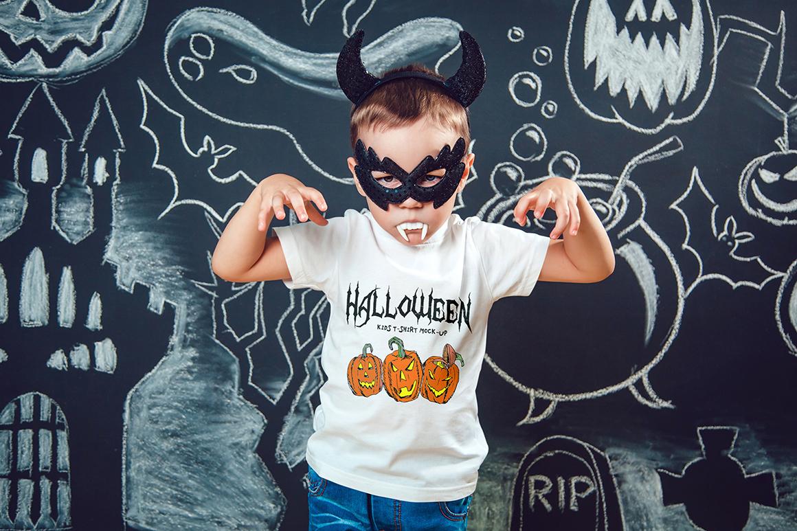 Halloween Kids T-Shirt Mock-Up example image 17