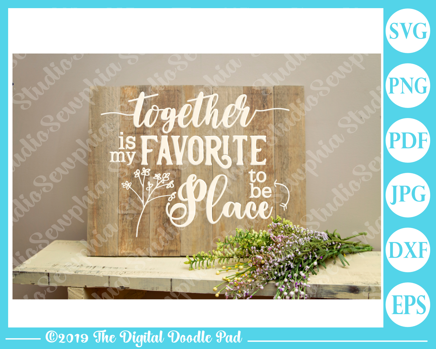 Together Is My Favorite Place To Be by Digital Doodle Pad example image 2