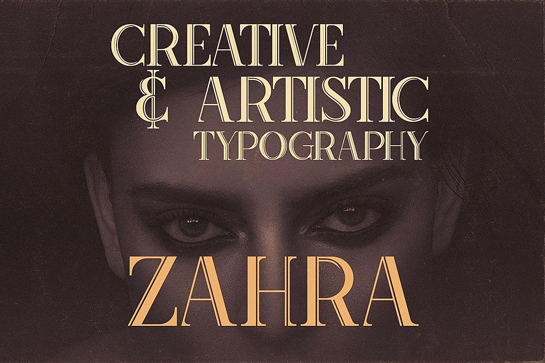 Zahra Typeface example image 4