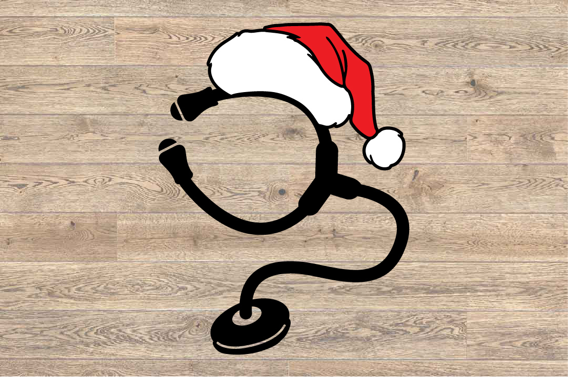 Santa Stethoscope Nurse Squad elf hat xmas christmas 1594S example image 2