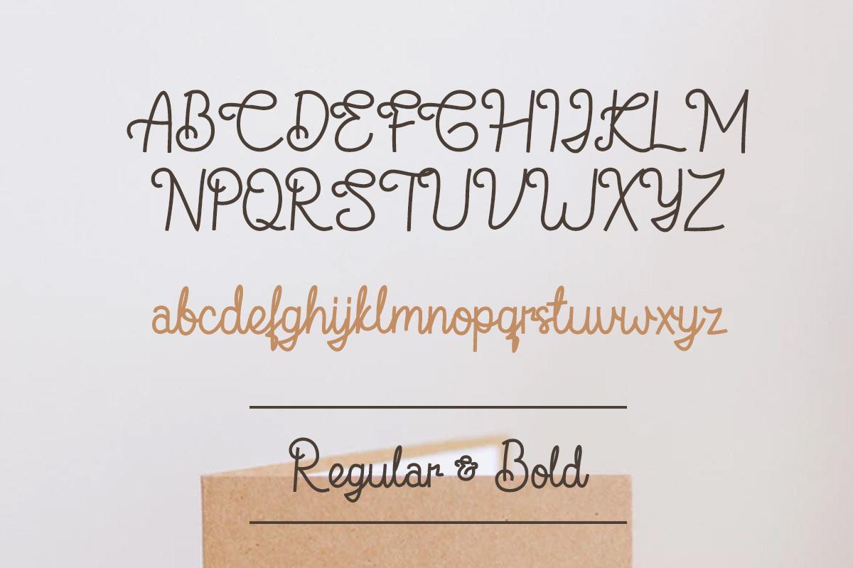 Flamingo - Monoline Script Font example image 7