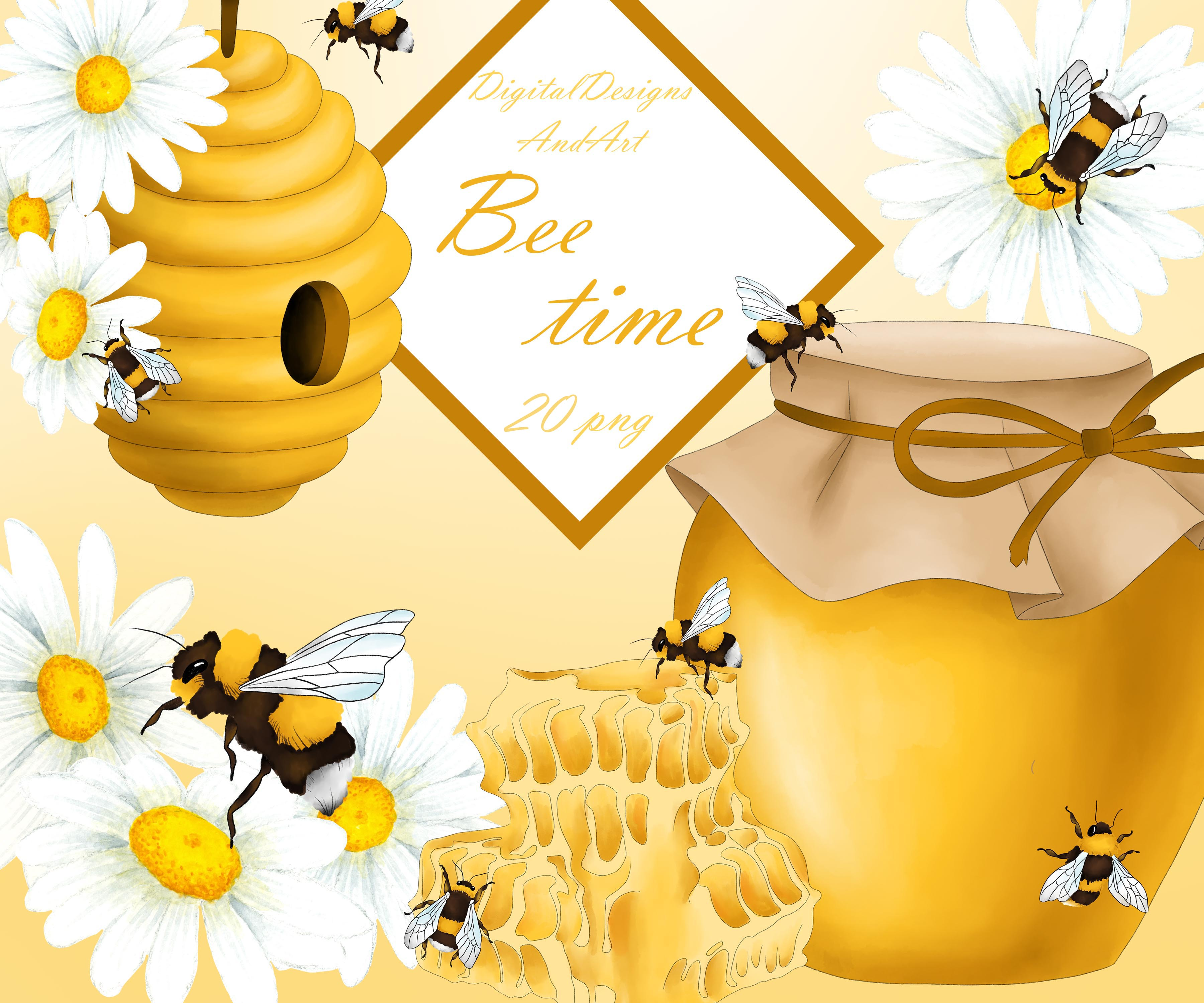 Honey bee clipart example image 1
