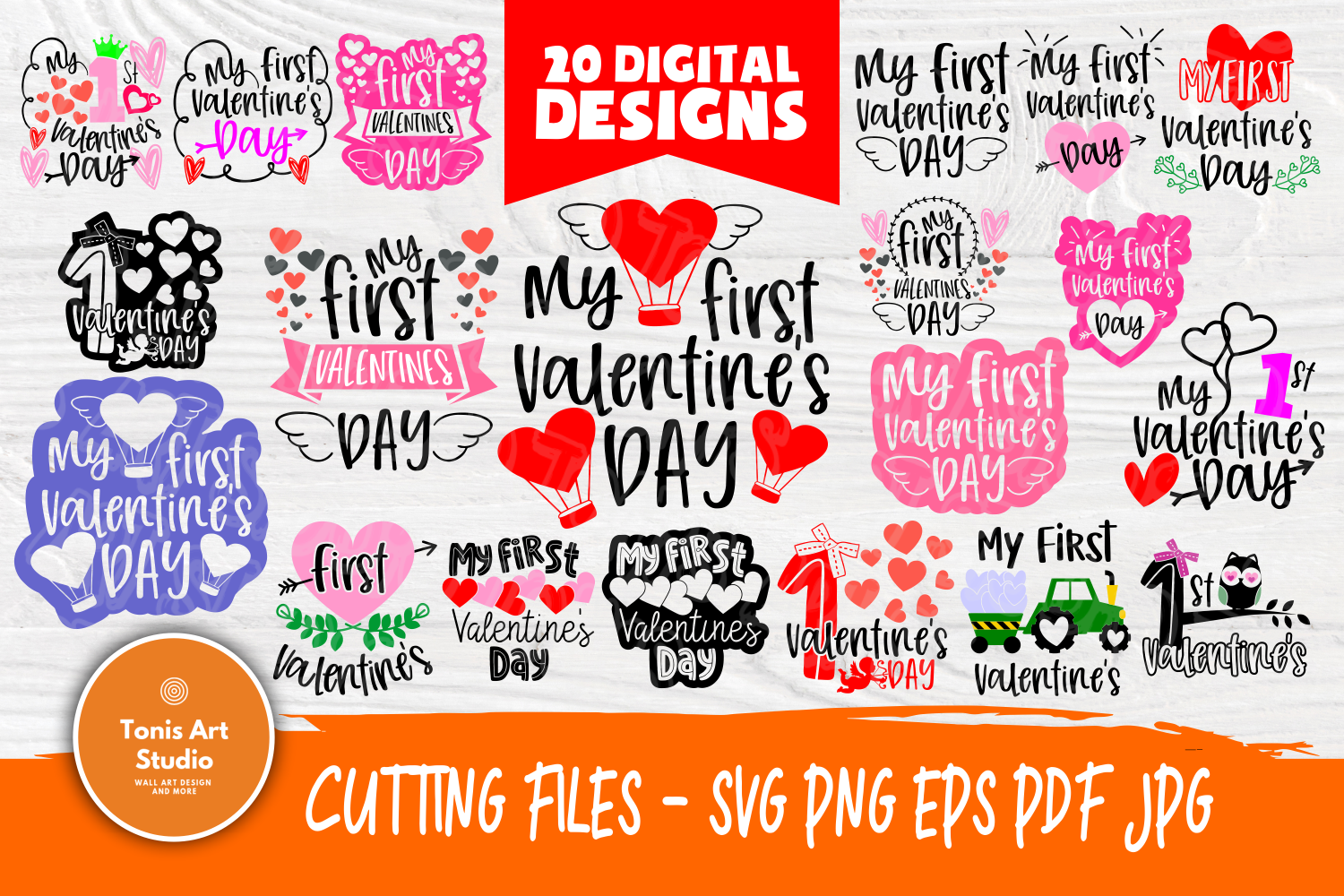My First Valentine's Day | SVG Bundle | Valentines Quotes example image 1