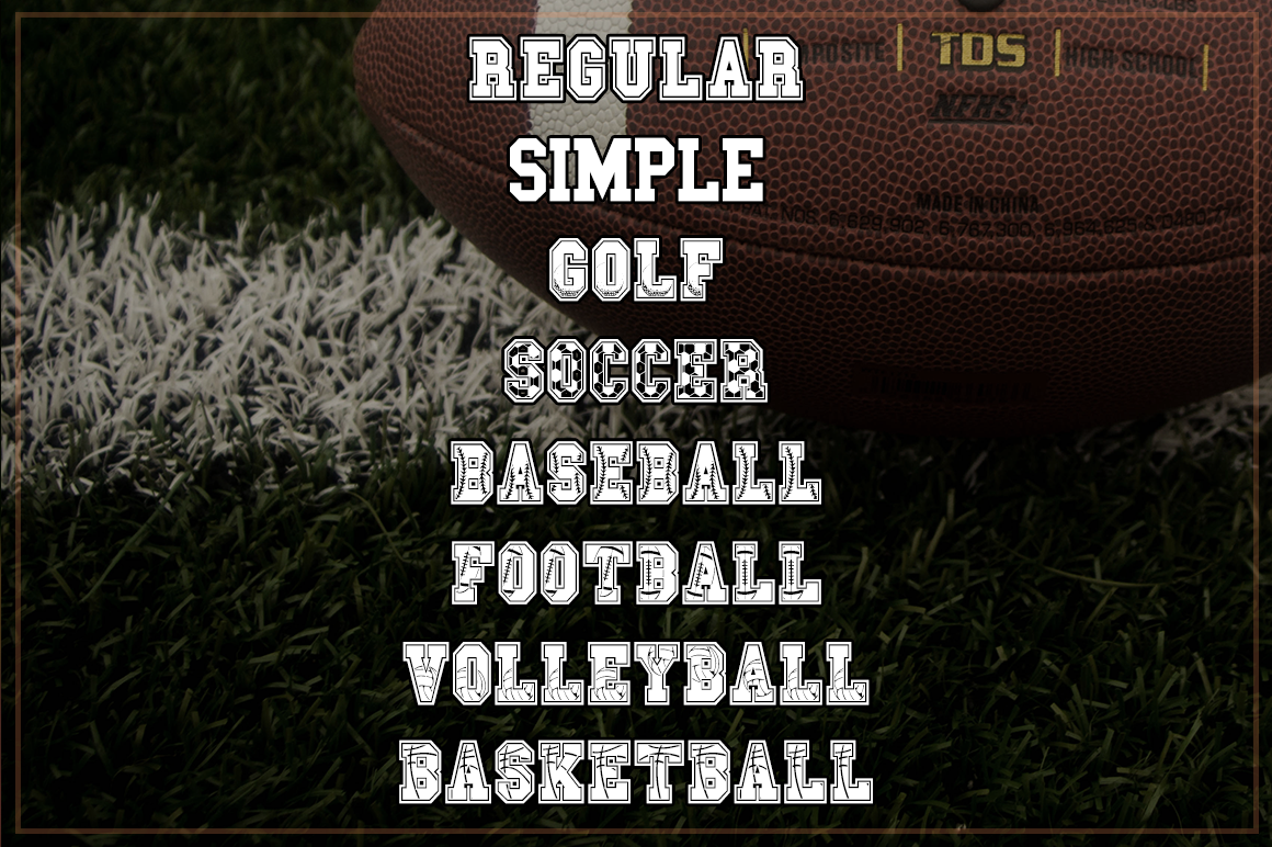 Sport Champs Font Pack   Sports Font example image 2