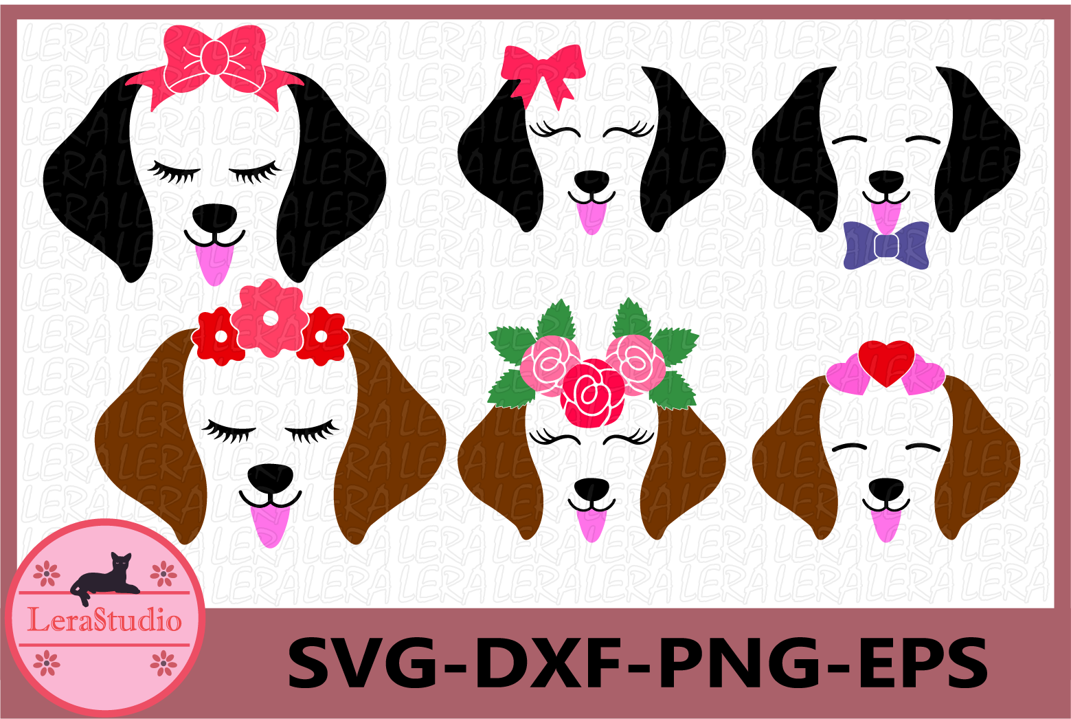 Dog SVG, Puppy Svg, Dog Face Svg, Dog svg, eps, png, dxf example image 1
