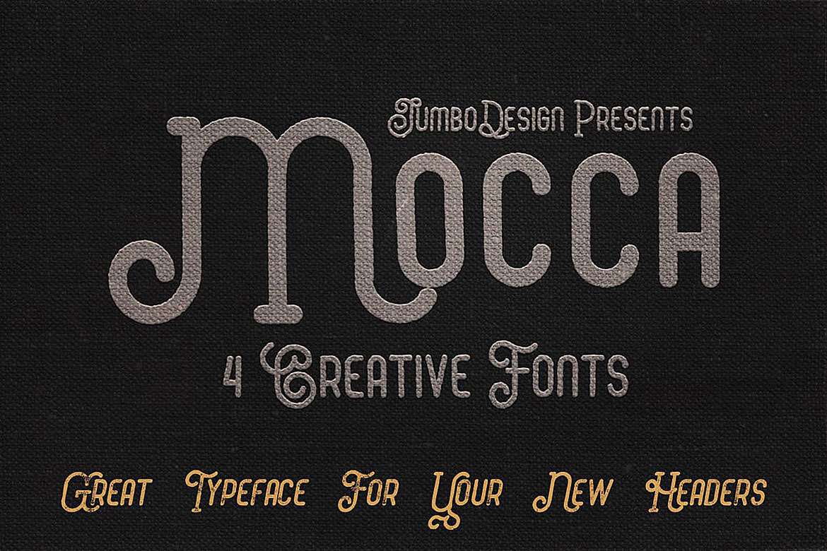 Mocca - Vintage Style Font example image 3