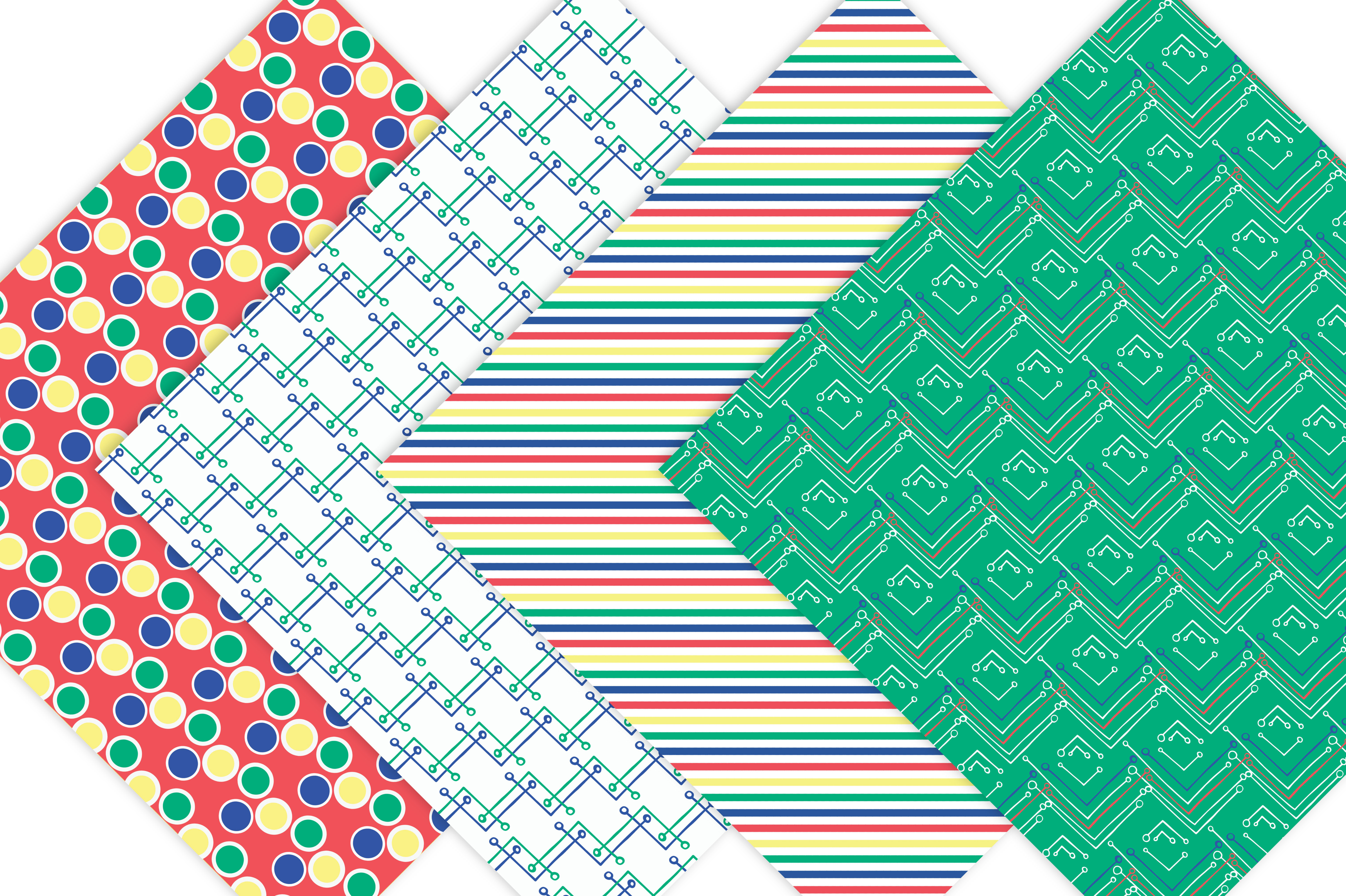 Primary Colors Geometric Patterns example image 5