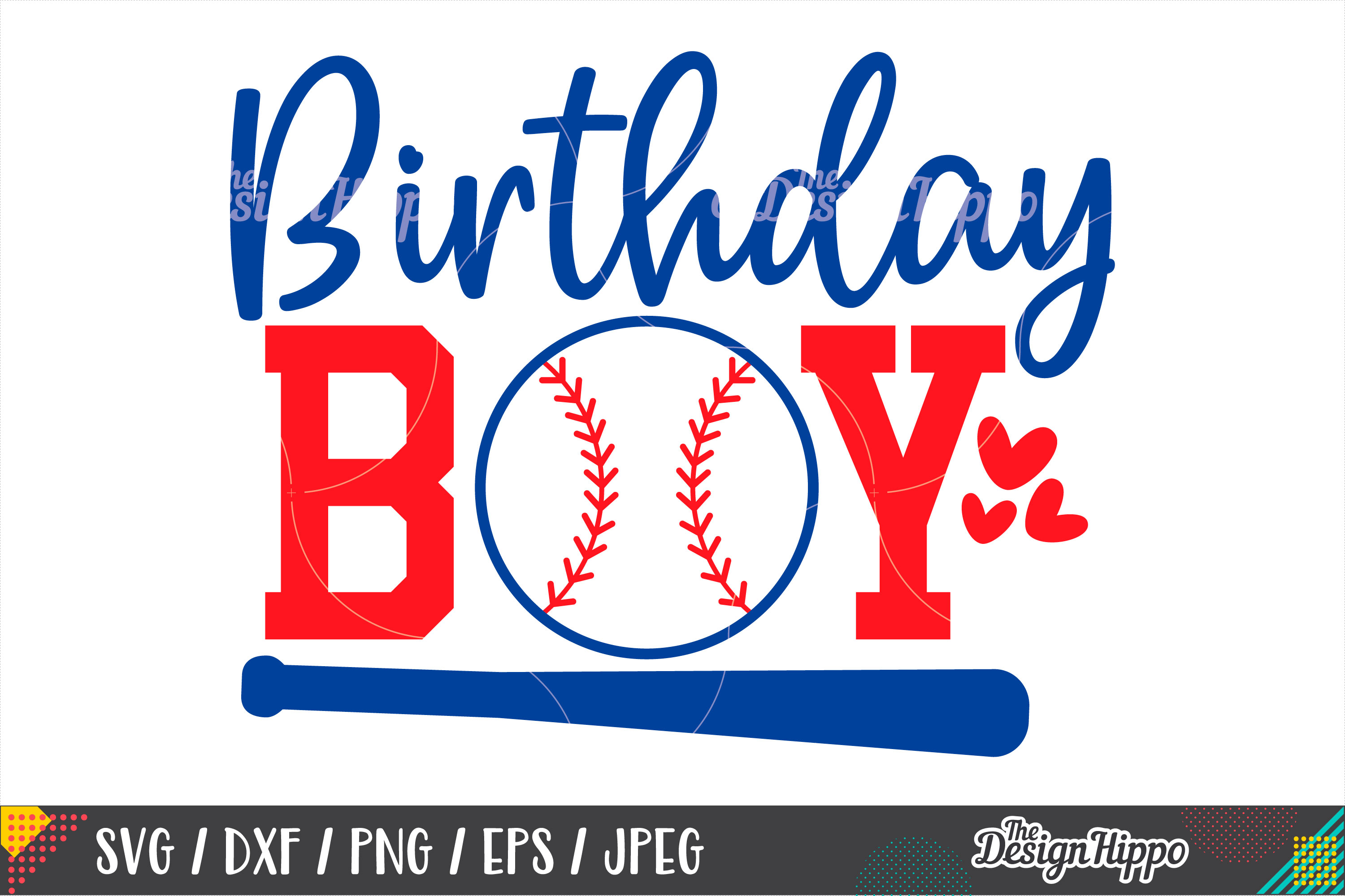 Baseball Birthday Boy SVG DXF PNG EPS Cutting Files Example Image 1