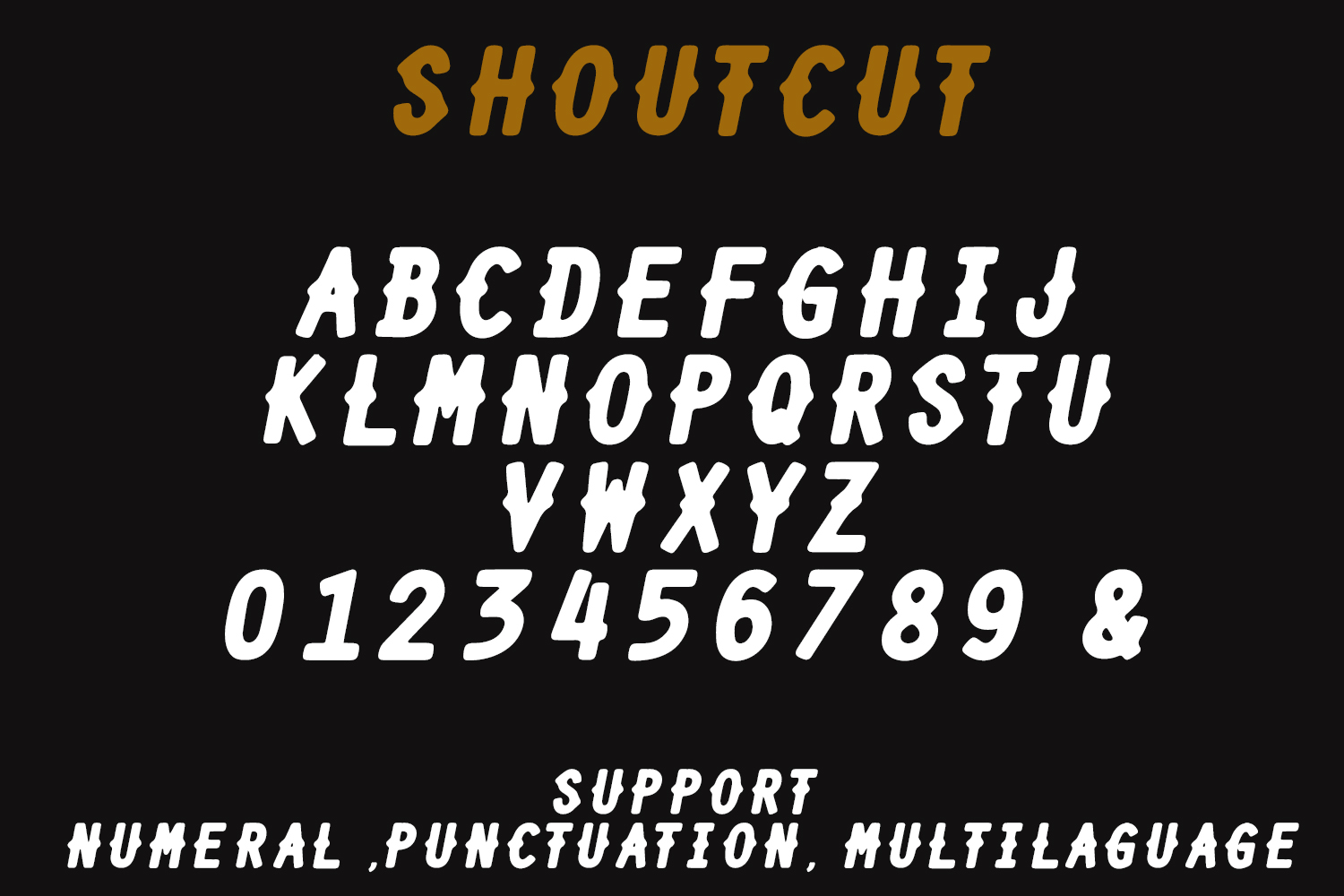 SHOURTCUT Typeface - Display Font example image 5