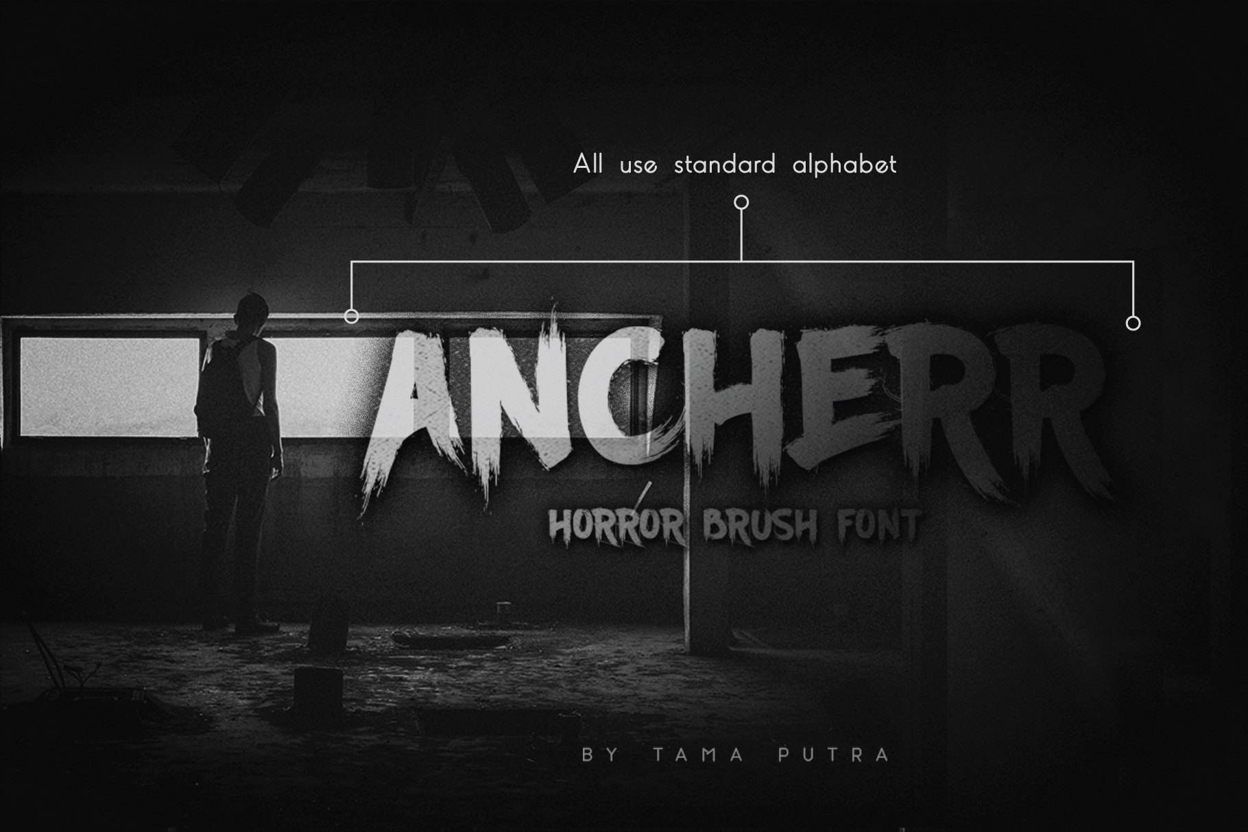 Ancherr Horror Brush Typeface example image 1