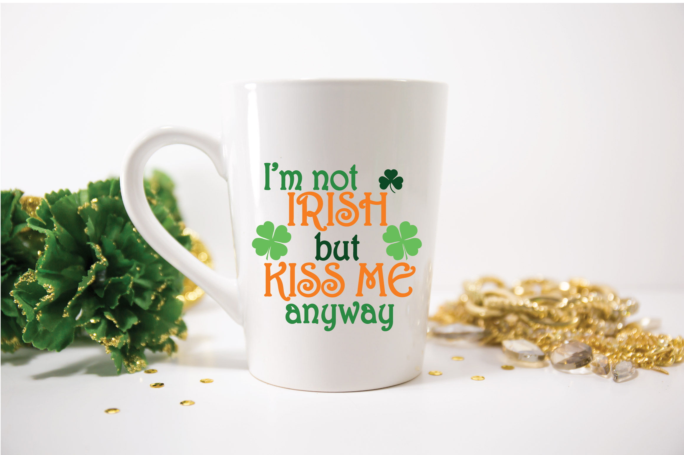 I'm not Irish but Kiss Me Anyway SVG Cut File - DXF - EPS example image 5