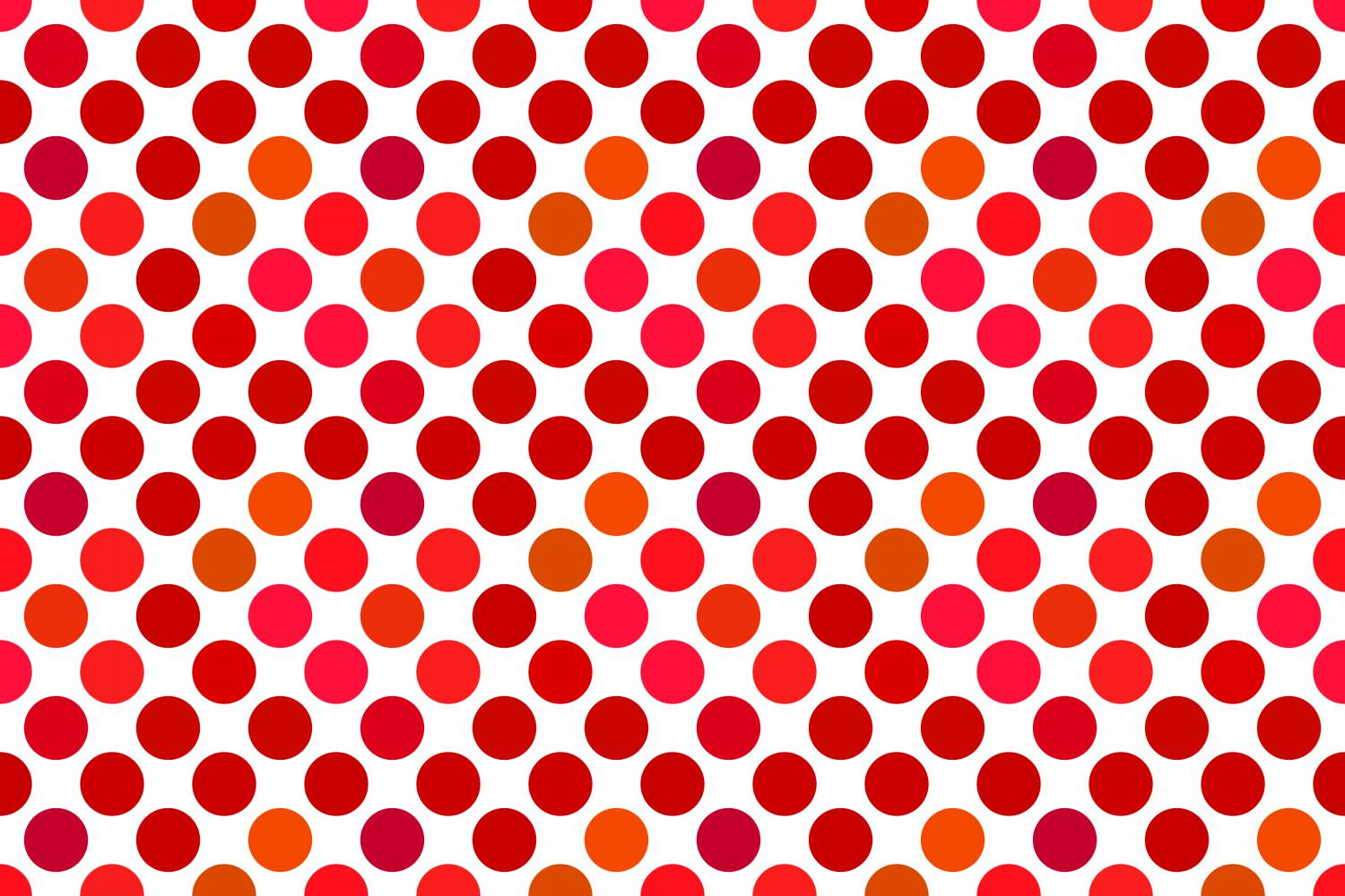 24 Seamless Red Dot Patterns example image 2