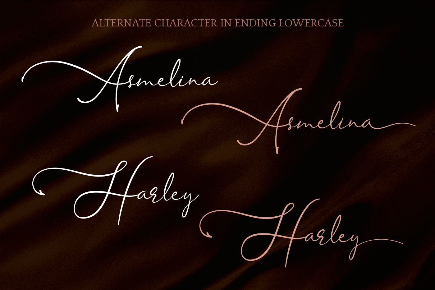 Asmelina Harley Script example image 8