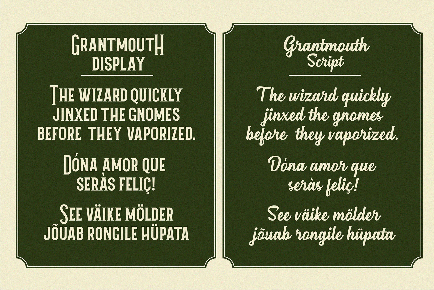 Grantmouth Font Duo Extras example image 5